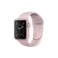 Apple Watch Series 1, 38 мм, корпус из алюминия цвета «розовое золото», спортивный ремешок цвета «розовый песок» MNNH2