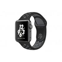 Apple Watch Nike+ 38 мм, корпус из алюминия цвета «серый космос», спортивный ремешок Nike цвета «чёрный/холодный серый» MNYX2