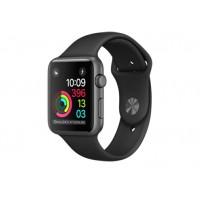 Apple Watch Series 1, 42 мм, корпус из алюминия цвета «серый космос», спортивный ремешок чёрного цвета MP032