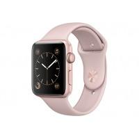 Apple Watch Series 1, 42 мм, корпус из алюминия цвета «розовое золото», спортивный ремешок цвета «розовый песок» MQ112