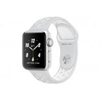 Apple Watch Nike+ 38 мм, корпус из серебристого алюминия, спортивный ремешок Nike цвета «чистая платина/белый» MQ172